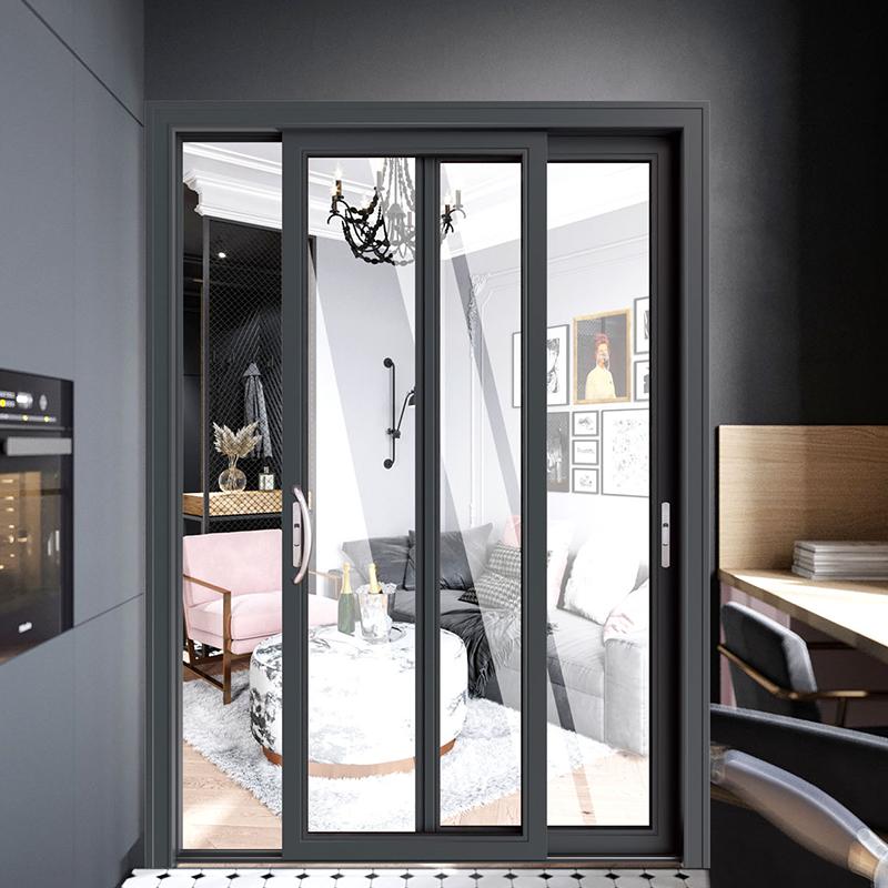 aluminum glass folding door