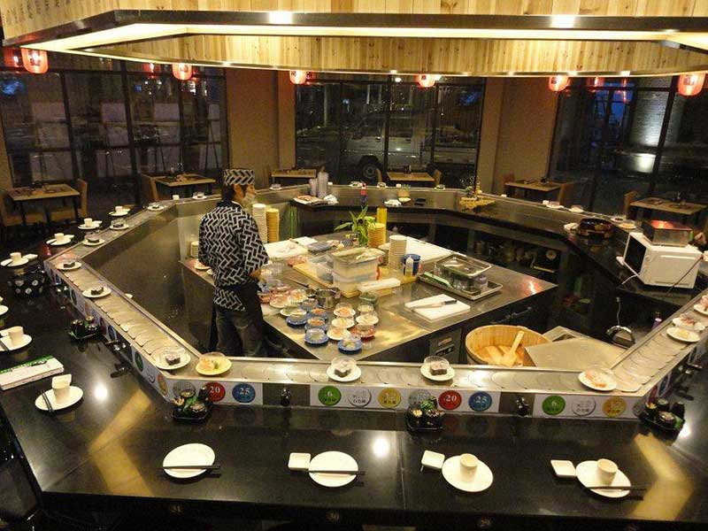 spin hot pot conveyor belt