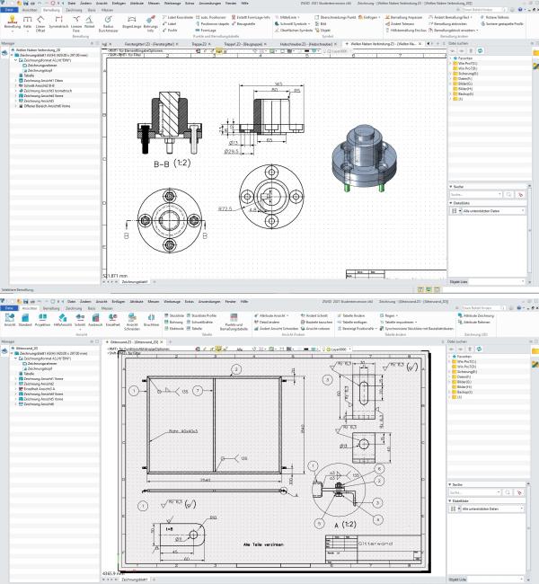 学生使用中望3D生成的2D工程图